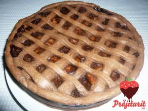 Tartă cu mere și ciocolată