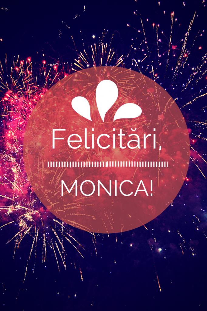Felicitări, Monica, câștigătoarea concursului de prăjiturit