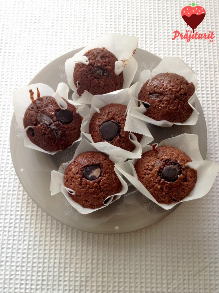 Briose cu bucati de ciocolata